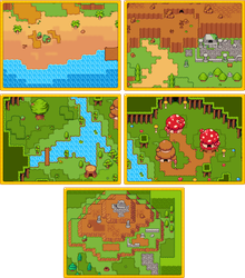 RPG Grasslands Tileset Pack by 7Soul1
