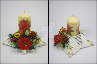 Candle stick (star-shaped) 3 by Ella-handmade