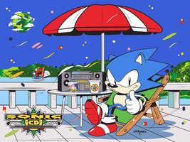 Sonic CD-25th anniversary by Linkabel32