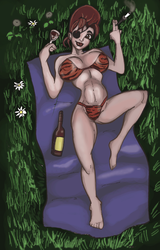 Countess Titania Cleave on Blanket by Jeromatic