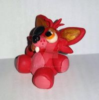 Foxy the Pirate Plushy miniature by TerraLove