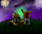 Fireworks with a friend by Momo-butt