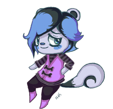 Animal Crossing(ish) Fancharacter by Ankh-II