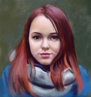 girls portrait. Study by Nelsonito