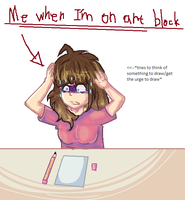 Me when on art block by Maechi-Toff
