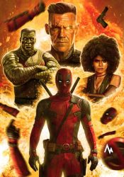 A very serious Deadpool Poster (full) by marvingtabacon