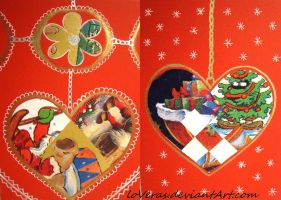 Heart Christmas Cards by LoVeras