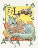 Ex Libris: book label by metasilk