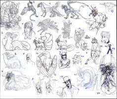 HUGE SKETCH DUMP OMFG by Anarchpeace