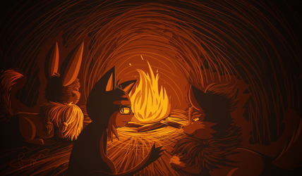 Warm By the fire by RymNotrim