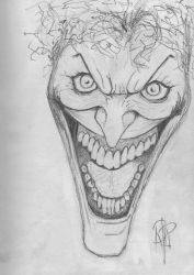 Sketch 1 - The Joker by YOLOR