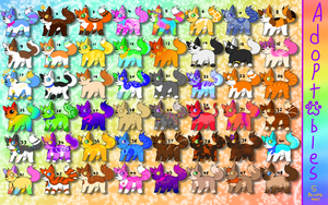 -OPEN!- |48 5-Point Cat Adopts! Sparkle+Realistic! by ArionArts