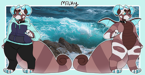 Milk, cookies and the ocean! (NEW OC) by Honey-Beest