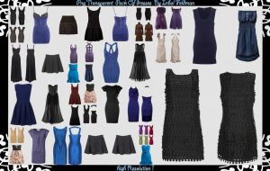 PNG dresses PACK by RedHeadLilith