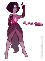 SU-OC-Almandine (Request) by Jchanel404