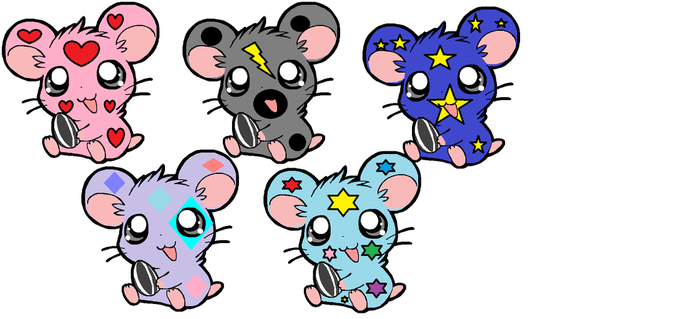 Hamster Adoptables CLOSED!!! by DreamNotePrincess
