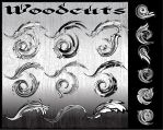 WOODCUTS: vector symbols by r2010