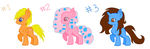 Adoptable Auction Batch Ponies 1/3 {Open} by gumball321