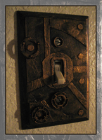 Steampunk Switchplate by masquerangel