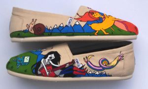 Adventure Time Custom Painted TOMS by Ceil