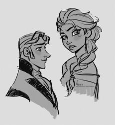 Disney's FROZEN - Fast Sketches by David Kawena by davidkawena