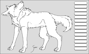 Male dog lineart by Susiruhtinatar