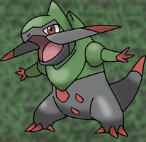 Fraxure from Pokemon