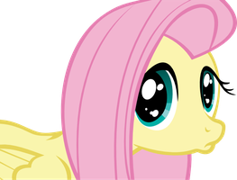 Pouty Fluttershy Vector by Crelyous