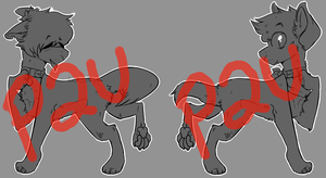 P2U Dog Lineart NOW INCLUDES MSPAINT VERSION by imhlgh