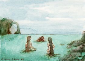 The sea-maids went out by emera