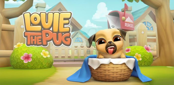 My Virtual Pet Dog - Louie The Pug by Peaksel