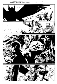 Brightest Day Atom special 2 pg 5 inks by JosephLSilver