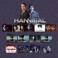Hannibal folder icons: S01-S03 by F0l13aD3ux