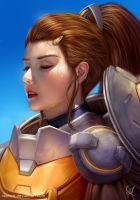 Overwatch: Brigitte portrait by Raphire