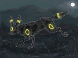 Realistic Umbreon -- Midnight by PacificPikachu