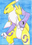 Renamon by wingedpaintbrush