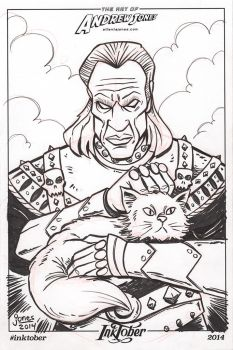 Inktober Day 4: Vigo from Ghostbusters 2 by AtlantaJones
