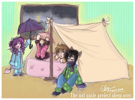 Not Quite Perfect Sleep Over. by MystiWings