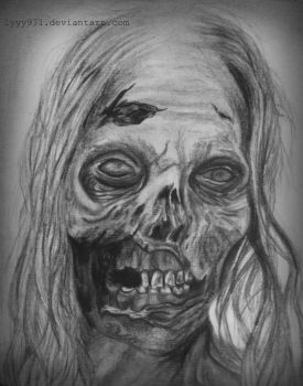 Bicycle Girl/Hannah drawing - The Walking Dead by lyyy971