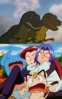 Team Rocket scared of Chomper's parents by Animedalek1