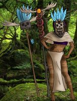 Kuwa Tribe - Witch Doctor Mask by buck3