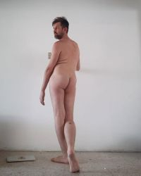 Standing Male Nude from Behind by TheMaleNudeStock