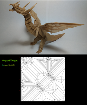 Origami Dragon and it's CP by Kaminskyyy
