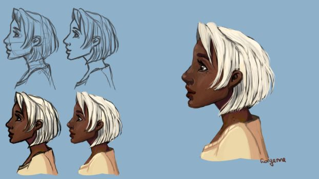 darker skincolor practice by Levest