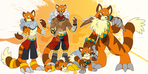 [c] Red Panda Digimon by glitchgoat