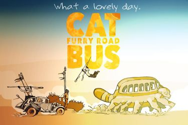 Cat Bus: Furry Road (colored) by WithintheMechanism