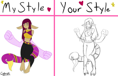 Draw this in your Style {Ametrine} WIP by PunkBune