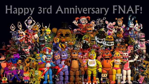 Fnaf Thank You V12 (Fnaf 3rd Anniversary) by Superkirby982