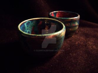 Blue and Violet Bowls by clsmith