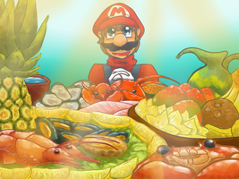 Mario Sea's food by Smash-Wolf